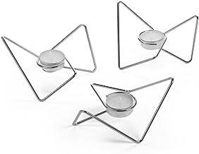 Black+Blum Kandelaar, driehoekig, 3 stuks 13.5 x 15 x 7cm chroom