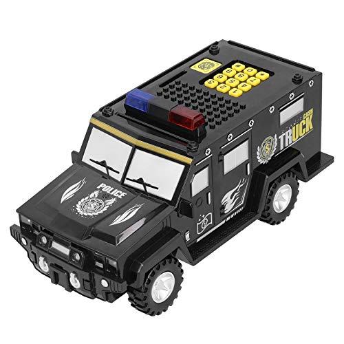 Contraseña hucha, BuyWeek negro en forma de coche moneda electrónica caja de ahorro de dinero olla de juguete con luz para regalos de cumpleaños de niños