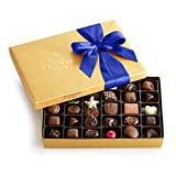 Godiva Chocolatier Assorted Chocolate Gold Gift Box with Royal Ribbon,...