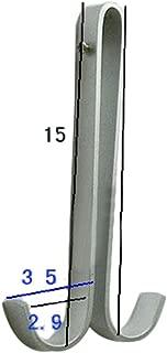 Welldoit Space Aluminum Double Hook Towel Hanger Hanging Hook for Bathroom Shower Glass Doors (Hook inner diameter 11mm/0.43
