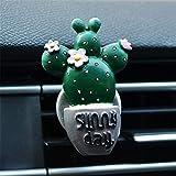 SIOJB 3D Carino Cactus conservato in Vaso Mantenere Gli umori soleggiati Outlet di Auto Profumo Uinque Design Ornamento Auto Deodorante Clip Accessori Auto, Viola