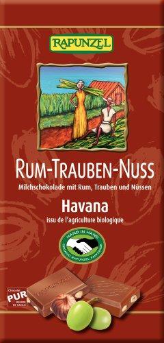 Rapunzel Bio Rum-Trauben-Nuss-Vollmilch Schokolade HIH (2 x 100 gr)