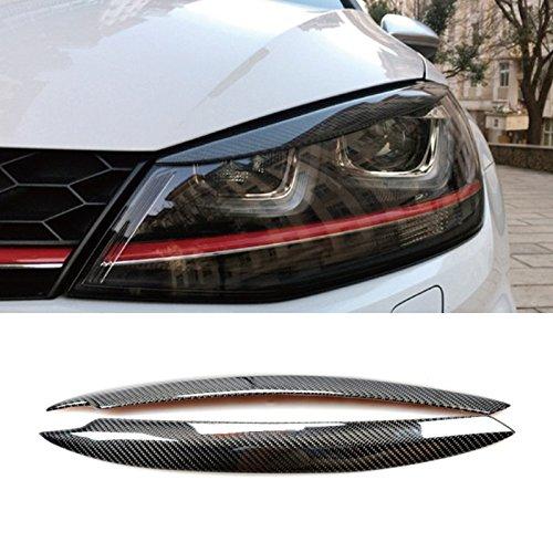 Kohlefaser Car Styling Scheinwerferblenden Scheinwerfer Wimpern Abdeckung
