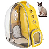 XZKING Cat Backpack Carrier Bubble Bag, Transparent Space Capsule Pet Carrier Dog Hiking Backpack,...