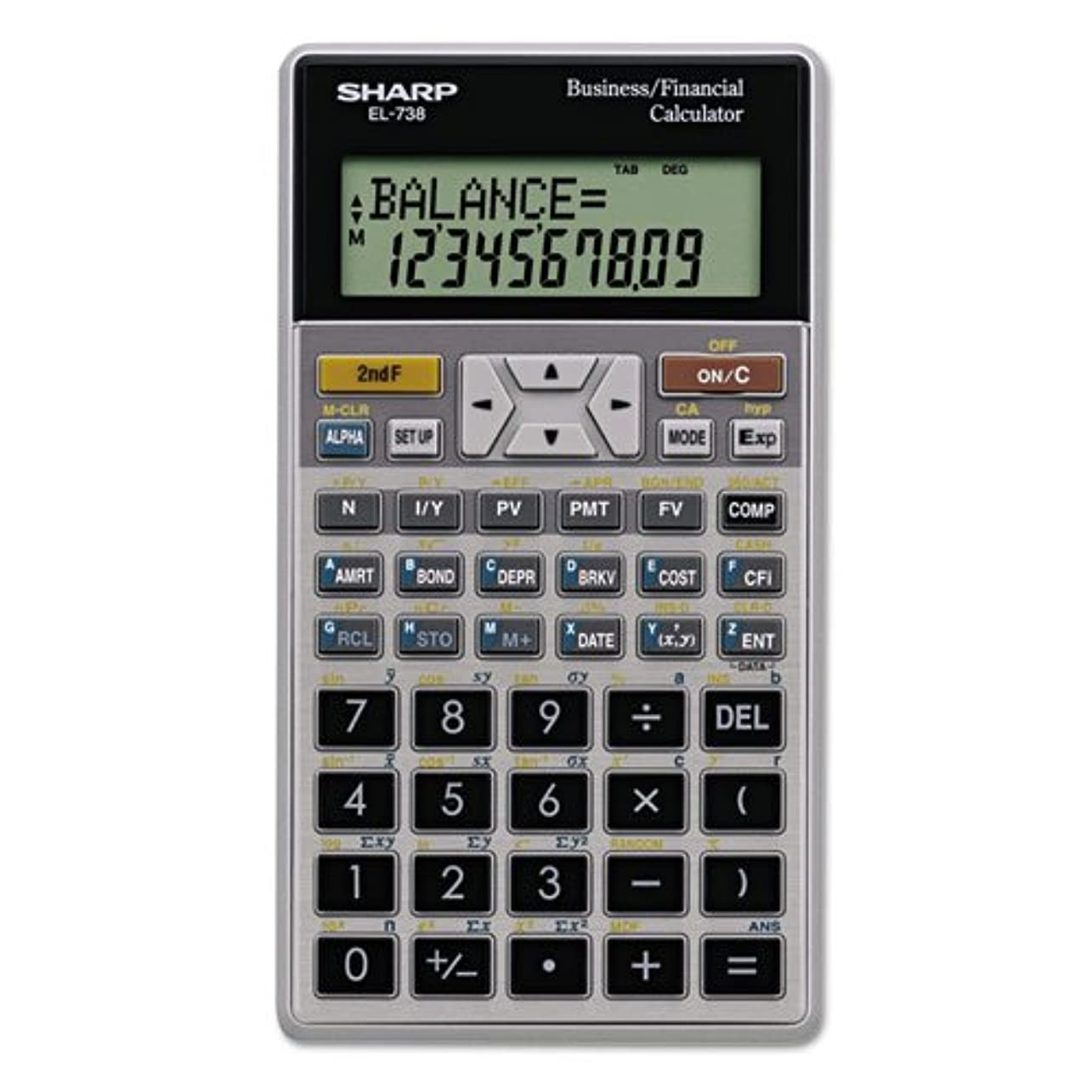 Sharp電子機器Corp el738fb el-738?C金融電卓、10桁LCD