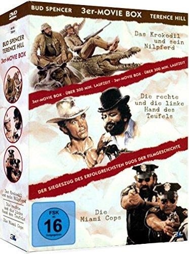 3er Movie Box BUD SPENCER & TERENCE HILL : Das Krokodil und sein Nilpferd + Die rechte und die linke Hand des Teufels + Die Miami Cops 3 DVD Box