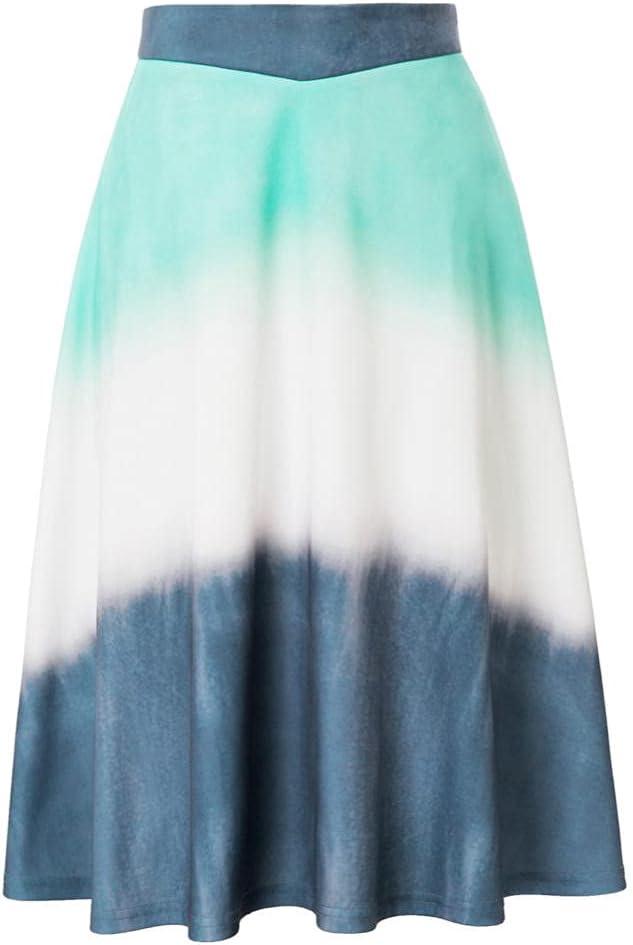 JNMCQ Denim Skirt Women's Skirts Max 78% OFF High Flared 2021 model Pattern Waist A-Lin