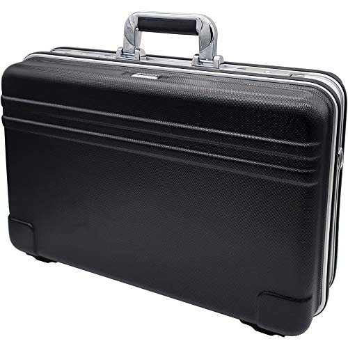 HEMMDAL Hartschalenkoffer, schwarz – flexible Fächer, leer – robuster ABS Koffer/Tragekoffer – inkl. Tragegurt – vielseitiger Werkzeugkoffer für Monteure, Elektriker uvm.