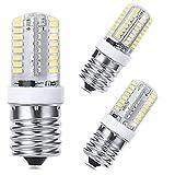 LEDERA E17 Dimmable LED Bulb, 6000K Daylight White for Microwave Oven Appliance, 40W Halogen Bulb Equivalent, 3-Pack