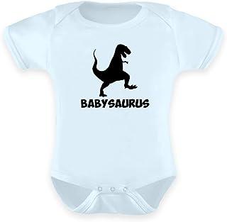 PlimPlom Vater Und Baby Partnerlook Strampler Babysaurus Geschenkidee Für Sohn Oder Tochter - Baby Body