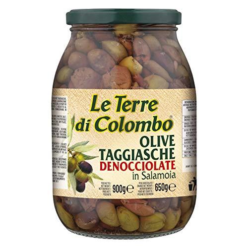 Le Terre di Colombo - Olive Taggiasca denocciolate in salamoia, 900 g