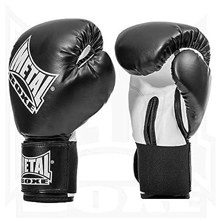 Metal Boxe PB480 - Guantes de Boxeo, Negro, Tamaño 10 oz