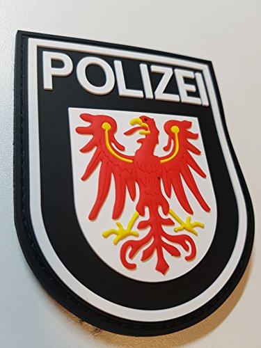 ATG Ärmelabzeichen Polizei Brandenburg 3 D Rubber Patch (Farbig)