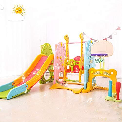 AIBAB 7 In 1 Kinderspielplatz Schaukelkombination Schieben Gehirn Spiel Aktivitätszentrum Für Kinder Mit Musik Fernbedienung