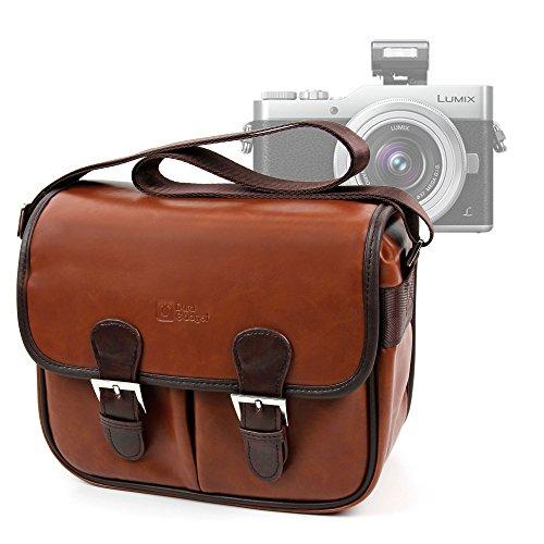 DURAGADGET Bolsa Profesional marrón con Compartimentos para Cámara Polaroid OneStep 600 /...