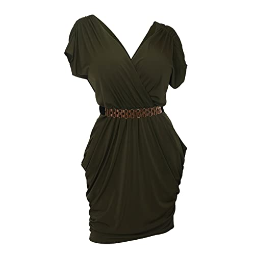 Olive Green Plus Size Dress: Amazon.com