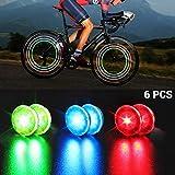 Faviye Fahrradfelgenlichter 6pcs Fahrrad Rad Lichter Speichenlichter IP67 wasserdichte für sicheres...