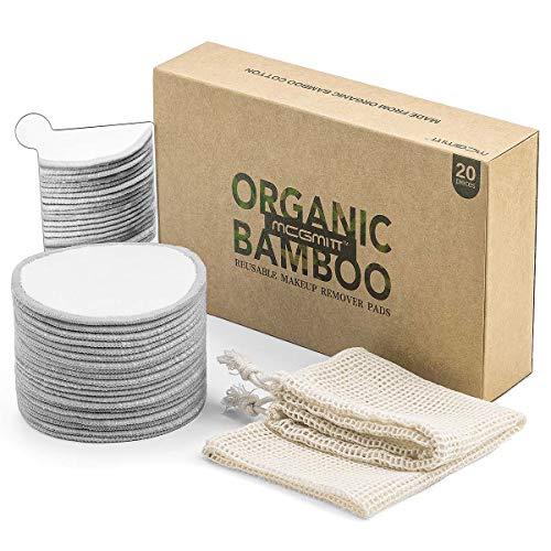 Bastoncillos Reutilizables Para Desmaquillar Paquete De 20 Bastoncillos De Algodón De Bambú Bastoncillos Reutilizables Para Desmaquillar Lavables Con Bolsas Redondas