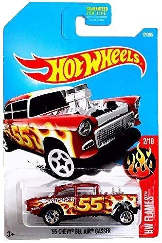 Hot Wheels 2017 HW Flames '55 Chevy Bel Air Gasser 12/365, Maroon