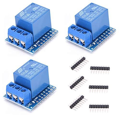 HiLetgo 3pcs 5V D1 mini Relay Shield 5V D1 mini Relay Module for WeMos D1