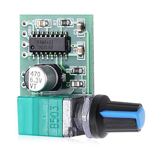HYY-YY PAM8403 5V potencia audio amplificador tablero 2 canal 3W control de volumen/alimentación USB