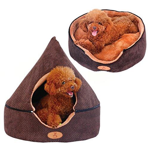 Vunce Kenel afneembaar en wasbaar verwarming in de winter jurte tenten kleine honden als de beer huisdier hond kat nest huisdierbed