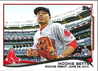 2014 Topps Update Series - Mookie Betts - Boston Red Sox Baseball Rookie Card RC #US301