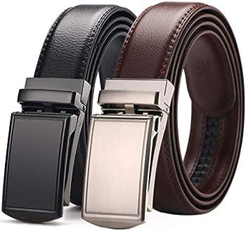 2-Pack West Leathers Slide Ratchet Belt