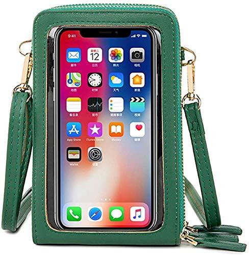 Bolso bandolera para teléfono móvil con pantalla táctil de menos de 6,5 pulgadas, verde (Verde) - TGYY-VXIDWU