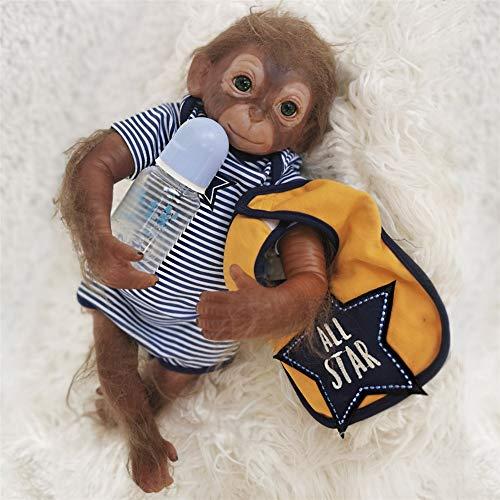 BeesClover 20 inch Bebe Reborn Echt Leven Aap Baby Zachte Siliconen Herboren Pop Baby Speelgoed voor Chidren Verjaardagscadeau Creatief geschenk
