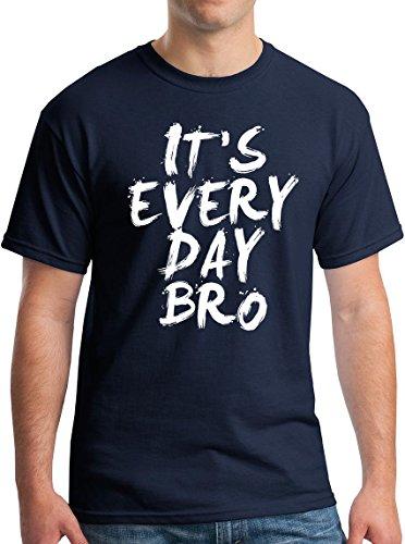 StreetViewTees playera Bro para todos los días - Azul - Large