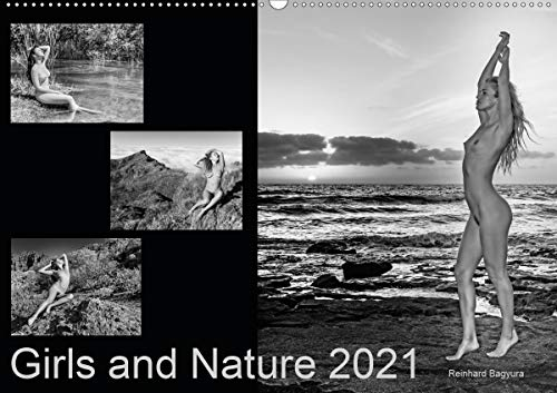 Girls and Nature (Wandkalender 2021 DIN A2 quer)