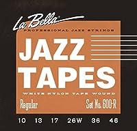【国内正規品】 La Bella ラベラ ジャズギター弦 600R JAZZ TAPES ホワイトナイロンテープワウンド Regular (10-46)