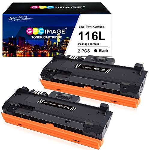 GPC Image Cartuchos de tóner Compatible para Samsung D116L MLT-D116L (2 Negro) para Samsung Xpress SL M2835dw M2625d M2825nd M2885fw M2825dw M2675 M2675fn M2875fd M2626 M2626d M2676 M2676n Impresora