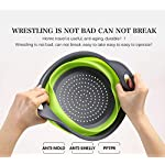 Kitchen Collapsible Colander Set of 3, HJYuan Silicone Colander Strainer Over the Sink Food Folding Water Filter Basket… 13 【 Foldable and Space Saving Design】Ergonomic, space-saving design. Strainers are foldable, so they do not take up much room in your kitchen cupboards. 【Safe and Comfortable】Using environmentally friendly Rubber and plastics materials,no smell.And it is very soft and comfortable. Closed home partner for life. 【Easy to Use】This round colander used for draining most foods like spaghetti, pasta, potatoes, broccoli, green beans, carrots, spinach and other veggies, to rinse your salad leafs, fruits and fresh vegetables.
