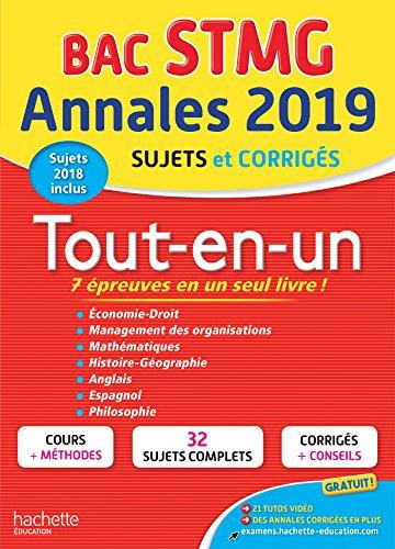 Annales Bac 2019 Tout En Un Tle Stmg