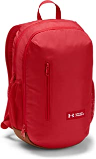 Under Armour Roland Unisex Casual Backpack - Polyester, Red/Sienna Brown/White 1327793-600