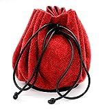 Mythrojan Medieval Jewelry Belt Pouch LARP Renaissance Waist Bag - Red