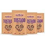 nut&me   Almendras con Piel Tostada   Sin Sal   Sin Gluten   Vegano   (250g x 4 uds)