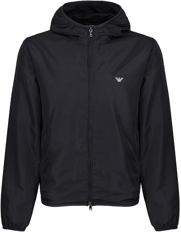Emporio Armani Logo Tape Windbreaker Windproof Jacket Large black