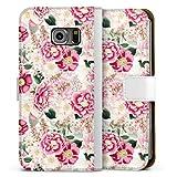 DeinDesign Étui Compatible avec Samsung Galaxy S6 Edge Étui Folio Étui magnétique Fleurs Motifs...