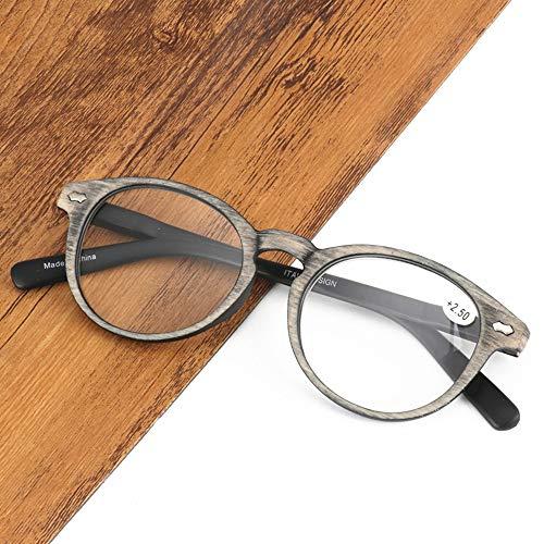 Vintage leesbril, ovale HD-bril, herenmode leesbril verlicht vermoeidheid, sterk scharnier + veertempel