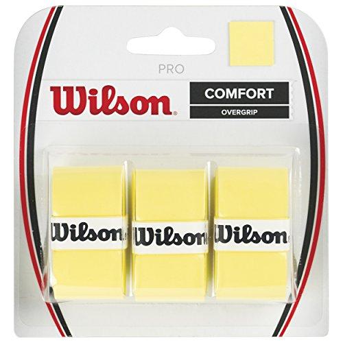 Wilson Pro Overgrip Empuñadura, 3 unidades, unisex, amarillo