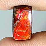 GovindStore 3.90Cts. 100% Natural Flashing AMMOLITE Cushion CABOCHON A+ Loose Gemstones