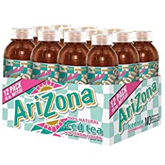 Add the staple taste of Arizona Tea to your cart today. Every bottle of Arizona tea is a great tasting and 100% pure iced tea option. Brewed to premium perfection, Arizona Tea is an affordable bottled iced tea that every hardworking consumer can enjo...