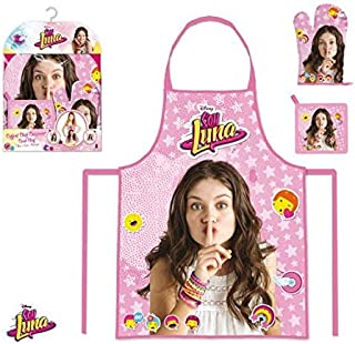 Soy Luna Disney Cook Cheft Set with Apron Glove and Pot Holder