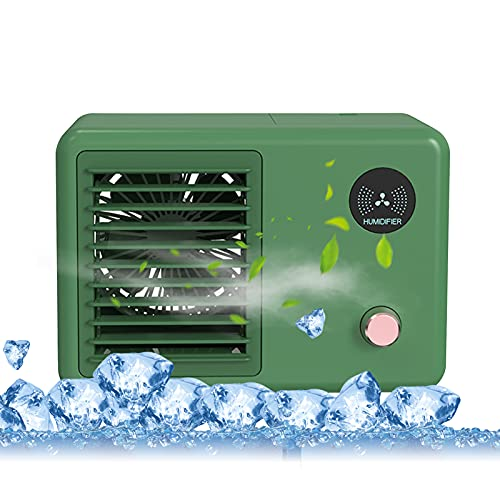 Keifen Air Cooler,Desktop Air Cooler Air Conditioner Fan Small USB Personal Fan Quiet Air Cooler Cooling Fan 3 Speeds Misting Fan for Home Room Office