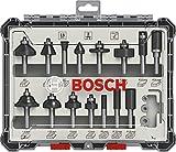 Bosch Professional 15tlg. Fräser Set (für Holz, Zubehör für Oberfräsen mit 8 mm Schaft) - 3