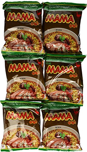 MAMA Oriental Style Instant Noodles (Artificial Pa-Lo Duck Flavor) - 1.94oz - 55g (Pack of 30)