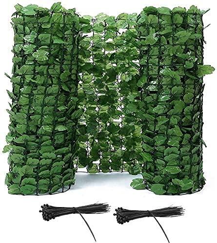 Siepe Artificiale Siepe Finta Recinzioni decorative Recinzioni decorative Recinzione per la privacy Schermo per edera artificiale Pannello in rete di plastica Siepe per la privacy Schermo a traliccio
